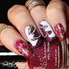 o christmas tree nail art design featuring kbshimmer