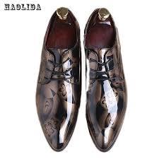 wedding shoes groom 2017 men dress wedding shoes shadow patent leather luxury fashion