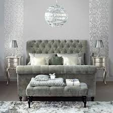 Upholstered Sleigh Bed Silver Bedroom With Upholstered Sleigh Bed Decorating With