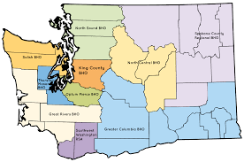 Washington State Ferries Map by Fysprt Regions