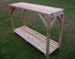 Inexpensive Potting Bench by Wooden Greenhouse Shed Potting Bench Staging Table With Shelf