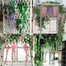 24pcs lot 105cm artificial silk wisteria fake garden hanging