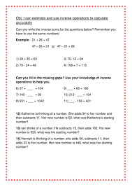 inverse operations year 4 by lhodkin teaching resources tes