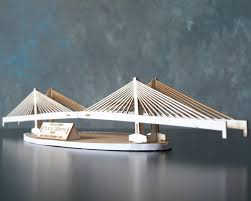 architectural model kits laser cut model kit of tilikum crossing bridge in portland