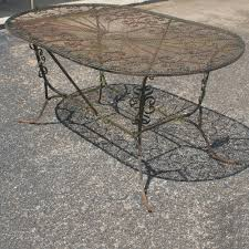 Wrought Iron Patio Furniture Glides by Wrought Iron Patio Furniture Glides 50s Wrought Iron Patio Table
