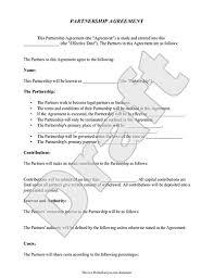 real estate partnership agreement printable sample construction