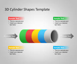 free 3d cylinder powerpoint template and cylinder powerpoint shape