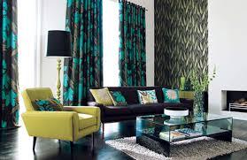 Retro Accent Chair Interior Retro Living Room Decorating Idea With Green Flower