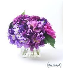Peony Arrangement Lavender Peony Arrangement Silk Floral Decor Home Decor Office