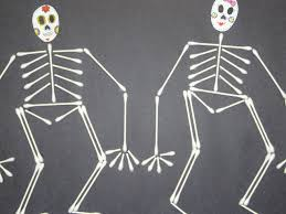 Skeleton Halloween Crafts Arts U0026 Crafts For Kids Q Tip Cotton Swab Skeleton Youtube