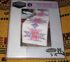 quiltologie table runner quilt kit big stitch technique ebay