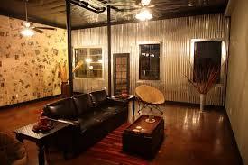 Garage Interior Wall Ideas Chic Corrugated Steel Interior Walls Corrugated Metal Wall In Wall