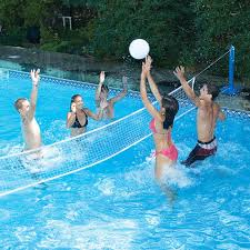 swimline in ground across pool volleyball game for swimming pools