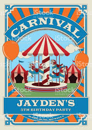 carnival and funfair birthday invitation template circus tent