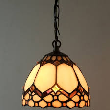Stained Glass Pendant Light Stained Glass Style Downward Bowl Shade 6 Inch Mini
