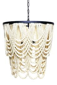 Chandelier Beaded Earrings White Bead Chandeliers White Wooden Bead Chandelier Italian Wood Beaded