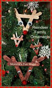 momma u0027s fun world reindeer family ornaments with popscile sticks