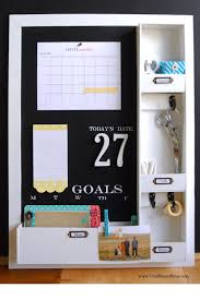 diy message center with chalkboard blue simply kierste design co
