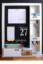 kitchen message center ideas diy message center with chalkboard blue simply kierste design co
