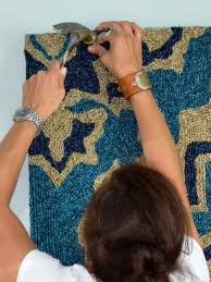 How To Decorate With Rugs How To Make A Rug Into A Headboard How Tos Diy