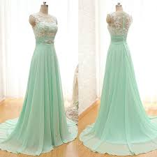 green bridesmaid dresses scoop neck bridesmaid dresses with lace appliques chiffon