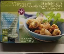 cuisine coriandre 16 mini nems poulet menthe légumes coriandre cuisine evasion