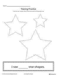 trace a star worksheet paging supermom arts u0026 crafts