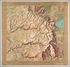 Mesa Verde Map Gorgeous 1914 Relief Maps Of Six National Parks