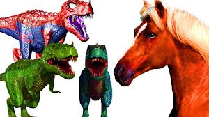 colorful color horse finger family rhymes for children dinosaurs