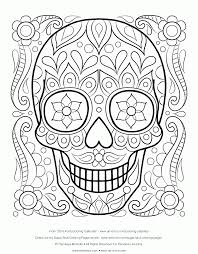 sugar skulls coloring pages simple skull mexican sheet free