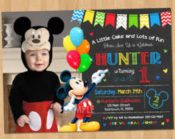 mickey mouse invitation digital printable oh twodles