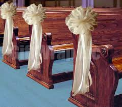 church wedding decorations decorations for pews for a church wedding 11228