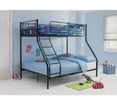 Buy HOME Lucas Triple Bunk Bed With Elliott Mattress Black At - Triple bunk beds with mattress