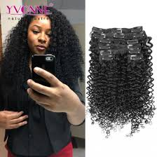 owigs hair extensions malaysian curly human hair clip in extensions