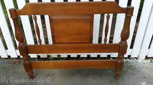 Antique Twin Headboards by Simple Twin Headboard Bench Step By Step Tutorial My Repurposed