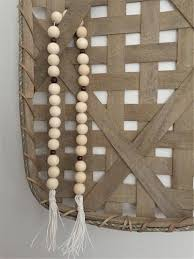 beads decoration home pinjeas 36pc farmhouse wooden bead garland and silicone beads home