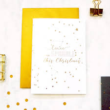 gold foil astrology twinkle stars card handmade personalised