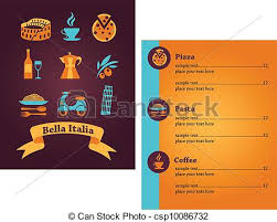 vectors of italian restaurant menu design template designs of