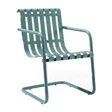 Steel Patio Chairs Shop Crosley Furniture Gracie Caribbean Blue Steel Patio