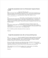 letter of recommendation example 8 samples in pdf word