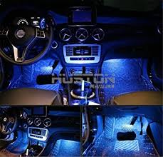 Led Lights Amazon Amazon Com Onepalace 4pcs Car Led Interior Underdash Lighting Kit