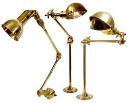 articulated brass map reading lamps early electrics