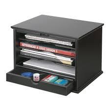 3 Drawer Desk Organizer by Victor 4 Shelf Desktop Organizer Black 4720 5 The Home Depot