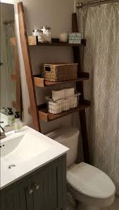 Bathroom Ladder Shelf by Decorating Brown Wooden Leaning Ladder Shelf For Bathroom