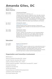 chiropractor resume samples visualcv resume samples database