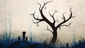 trees artwork wallpaper 1600x900 203092 wallpaperup