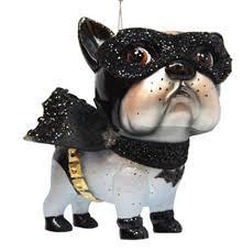 december diamonds glass ornament bulldog bat