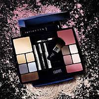 travel studio makeup palette incorporates a new blue and silver design conning the best selling shades from dior makeup