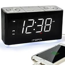clock radio with night light itoma alarm clock radio digital fm radio dual alarm with snooze cell