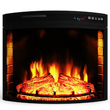 elite flame 23 inch led electric firebox fireplace insert